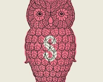 Owl Salt Shaker screen print