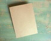 "100 A2 Flat Kraft Cards: Rustic Flat Cards, Kraft Brown Grocery Bag, eco-friendly, 4.25"" x 5.5"" (108x140mm) 65lb, 80lb, 100lb or 105lb"