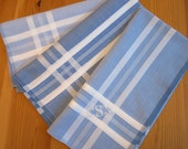 Set of 3 Assorted Color Fine Cotton Mens Handkerchiefs, Style No. 2029 with Monogram Style No. 2