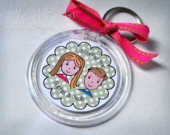Mom or Kids' Key Chain - Custom Made
