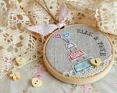Wedding present, wedding cake, personalised keepsake hoop art, bride and groom, Mr & Mrs, Mr and Mr, Mrs and Mrs, wedding vows renewal