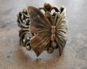 Enchanted Butterfly Ring-Antiqued Brass