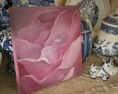 Small Oil Painting Rose on Gallery Wrapped Canvas