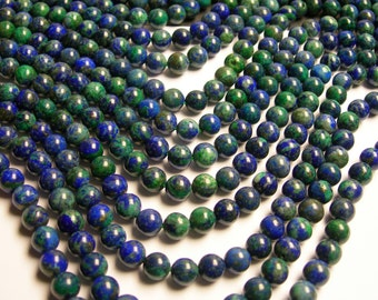 Azurite - 8mm (7.9mm) round beads -1 full strand - 50 beads - RFG42