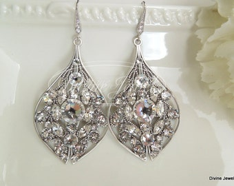 Wedding Rhinestone Earrings,Bridal Rhinestone Earrings,Crystal Bridal Earrings,Bridal Earrings,Crystal Earrings,Chandelier Earrings,CANDANCE