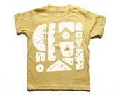 Shapes Kids Tee - Screen printed Children's Clothing - Shape Graphic Print - Toddler Tshirt - Organic Kids Shirt - Kids Tshirt