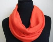 Merino Wool Cowl Scarf in Orange