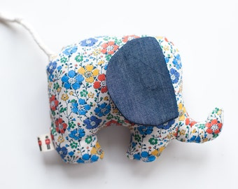 Baby Gift ~ Baby Toy ~ Liberty of London ~ Baby Shower Gift ~ Small Elephant ~ Clarise B Floral Print ~ Nursery Decoration ~ Cushion