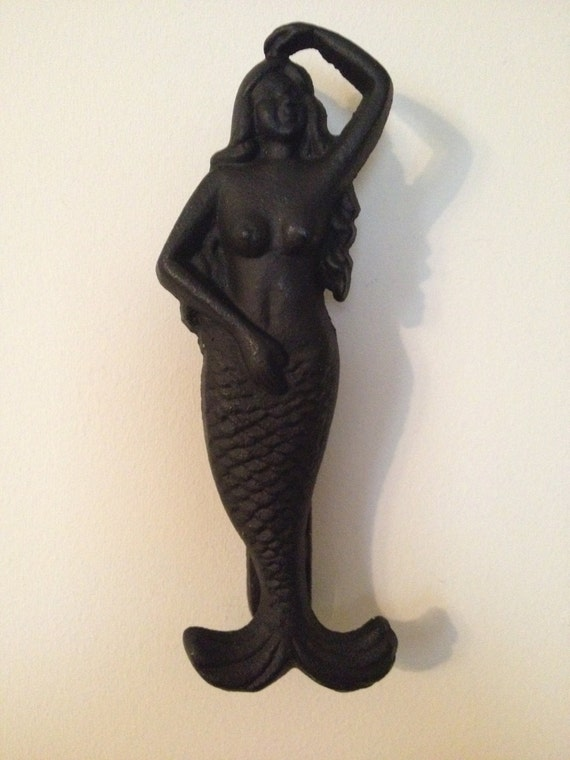 Vintage cast iron mermaid door knocker nautical by touchofclass123 - Mermaid door knocker ...