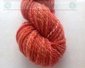 Hand Spun Rust Falkland Yarn