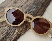 handmade round bamboo eyeglasses sunglasses 1104 TAKEMOTO with bamboo watches