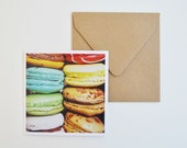 Colorful Macarons Iphoneography Note Card blank inside