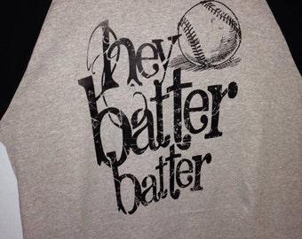 Hey Batter Batter baseball raglan