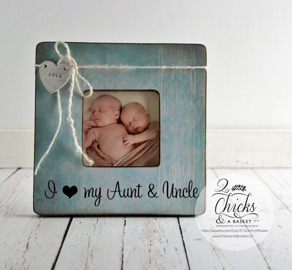 i love my aunt uncle personalized picture frame new aunt new uncle gift new baby. Black Bedroom Furniture Sets. Home Design Ideas
