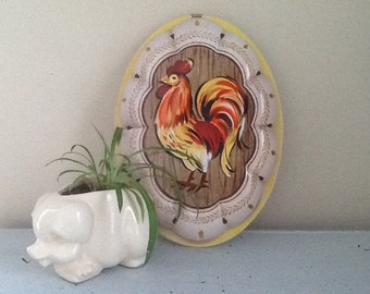 Rooster Tin / Daher Tin / Daher Rooster Tin / Rooster Decor / Vintage Daher Tin / Rooster Wall Decor / Vintage Rooster