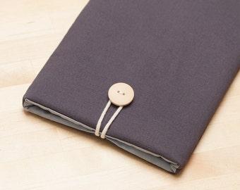 Nexus 9 sleeve case / Kindle Paperwhite sleeve / kindle fire HD 6 case / kobo glo case  / Nexus 7 case - plain charcoal-