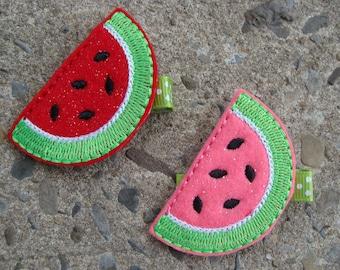Felt Watermelon Hair clip Felt Hair Clip Felt hair clip You choose color hair clip