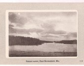 East Brownfield Maine - Sunset on Lake - Maine Landscape