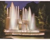 Italy Postcard Tivoli Vintage Postcard Villa D'Este Organ Fountain by Night - Italian Souvenir Postcard Fountain at Night - Tivoli Postcard