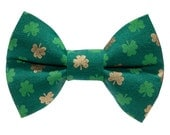 "Cat Bow Tie - ""The Good Fortune"" -  Shamrock Cat Bow Tie"