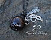 50 Fifty Shades of Grey Inspired Charmed Pocket Watch Necklace