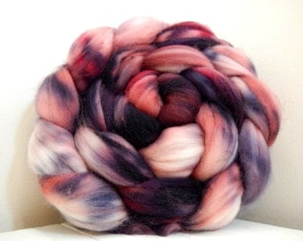 All the Pretty Witches Handpainted SW Merino Top Spinning Fiber 4 oz