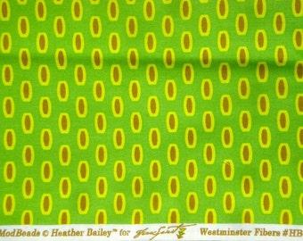 Bijoux Mod Beads green Heather Bailey Free Spirit Fabrics FQ or more