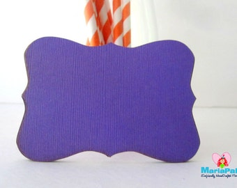 24 Bracket Cards, Dark Purple Bracket Die Cut,  ( 3.5 X 2.5 Inches) In Textured Cardstock, Choose Your Color  A1113
