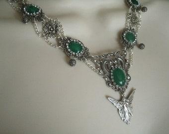 Fairy Necklace, fairy jewelry renaissance jewelry medieval jewelry victorian art deco edwardian art nouveau neo victorian tudor necklace