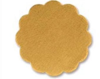 Flower Stamping Blank Brass- approx. 5/8 inch or 16.35mm   24g. You get 5
