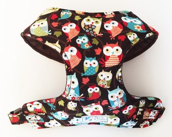 Owl Comfort Soft Dog Harness - Made to Order -