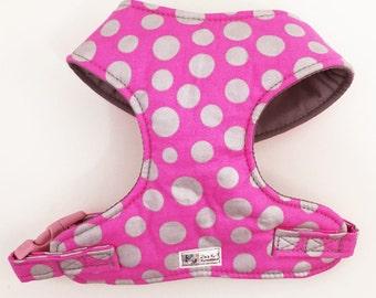 Polka Dot Comfort Soft Dog Harness - Made to Order -