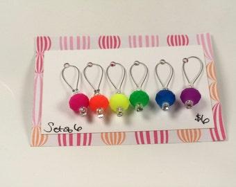 Rainbow Stitch Markers - Set of 6