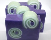 Set of 4 Swirl Bath Soaps or 8 Guest Soaps - custom soap, party favor, baby shower, wedding favor, wedding shower, birthday, curl, gift set