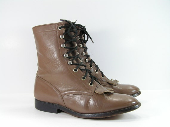 ankle cowboy boots womens 7 m light brown by