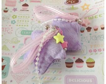 Bity Kity Original Kawaii Fairy Kei Purple Star Plushie Charm