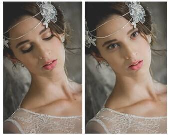 "Boho Bride ""Bohemian Juliet"" - Romantic Bohemian Wedding Headpiece, Bridal headpiece, Juliet Headband, Wedding Headband, Bridal Headband"
