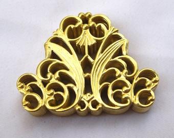 10pcs Gold Filigree Findings Brass Filigree Fashion Design Wholesale bf140