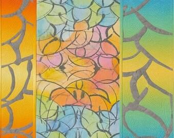 Just Suppose--Juxtaposed Fiber Art Wallhanging Art Quilt