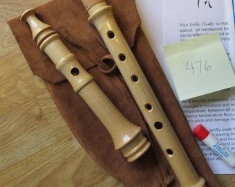 Heritage Music Keyless Irish Folk Flute Maple Wood with Leather Woodwind Bag Key of G -  #476