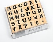 NEW Release Larger set of ABC Alphabet Rubber Stamps KI Hampton Arts Letters Sheriff Wild West Fancy Upper Case