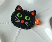 Black Cat Halloween Hair Clip
