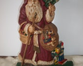 VIntage 60s/70s Iron Santa Clause Heavy Door Stopper