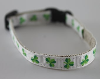 "Irish Shamrock organic cotton 1/2"" collar"