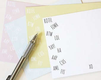Just BCUZ Notes - #Stationery #Note #Cards