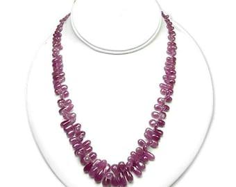 ruby necklace natural gemstones