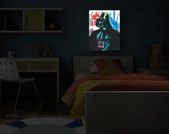 Wall Art Home Decor Darth Vader Illuminated Wall Art