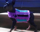 Striped dog sweater for small dog/ pet clothing