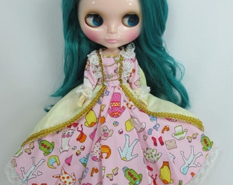 Outfit long sleeve dress for Blythe doll 792