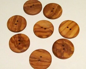 Wood Buttons Mediterranean Olive